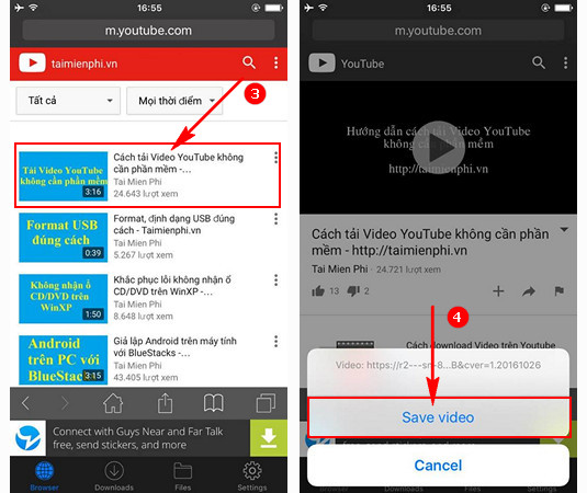 Tải Video Youtube trên iPhone 7