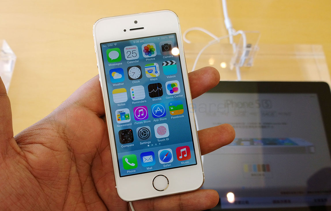 iPhone 5s với giao diện ios 7