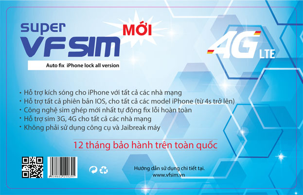 Sim ghép iPhone 6 - Supper VFsim