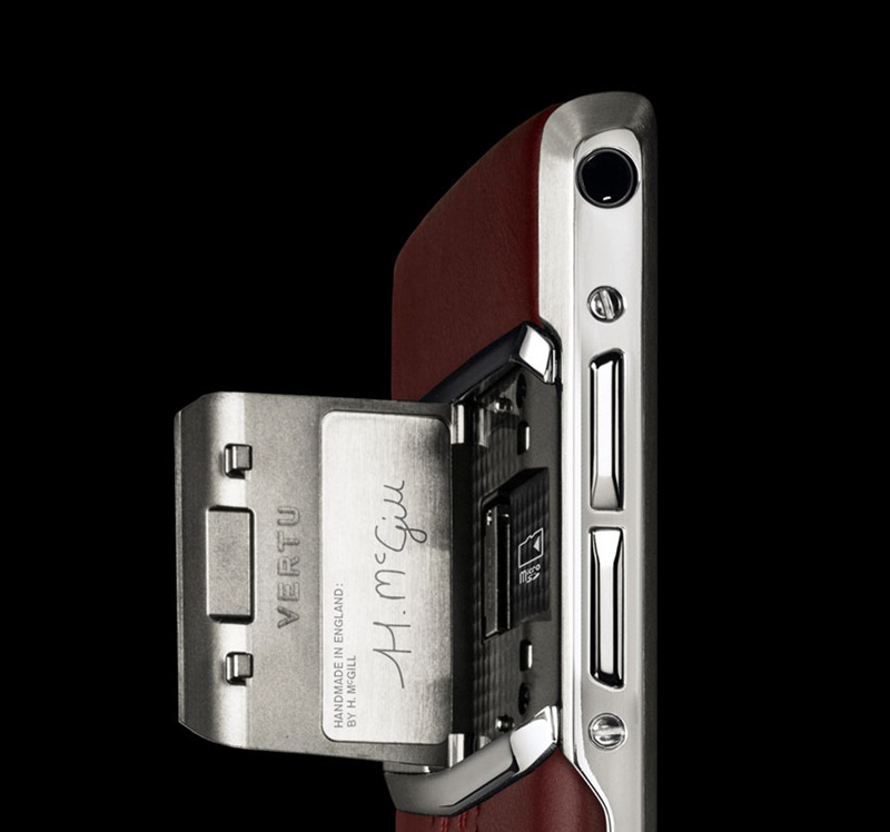 Vertu Fake New Signature Touch Garnet Calf