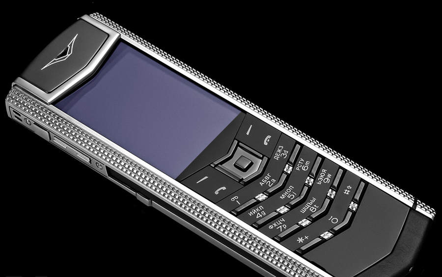 Vertu Fake Signature S Clous de Paris Stainless Steel (Cao cấp)