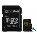 Kingston microSDXC Class 10 UHS-I 64 GB