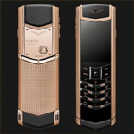 Vertu Fake Signature S Clous de Paris Red Gold